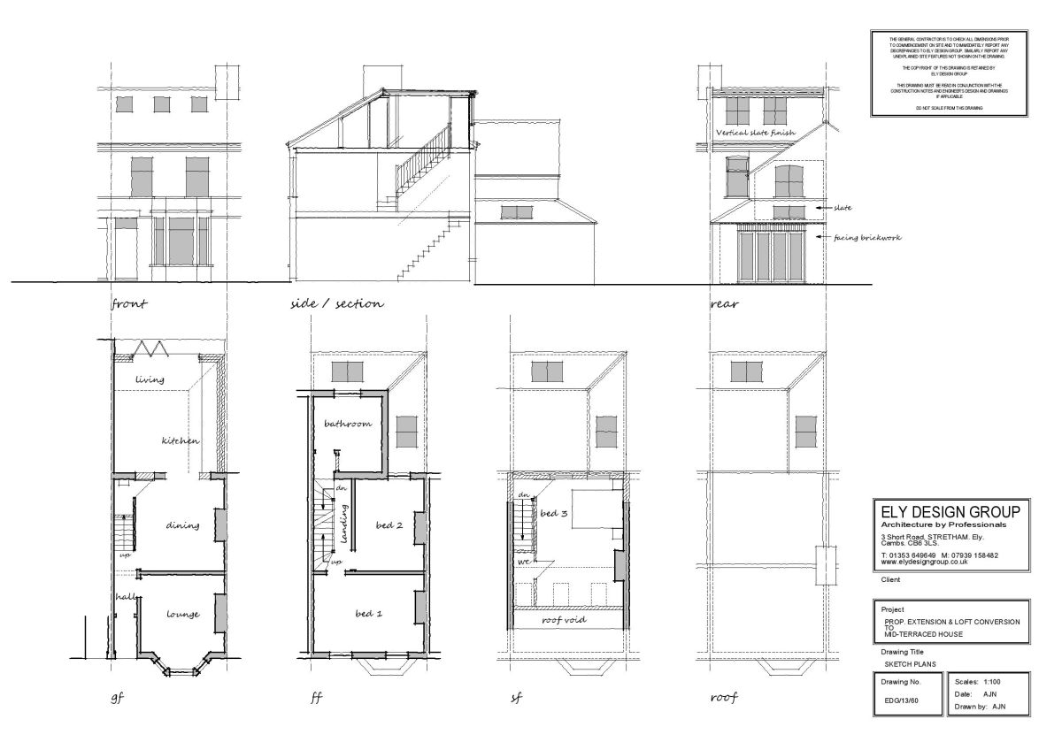 Loft Conversion Drawings - Ely Design Group on cupola plans, awning plans, rafter plans, porch plans,