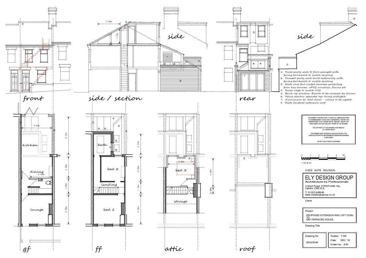 Loft Conversion Drawings Ely Design Group