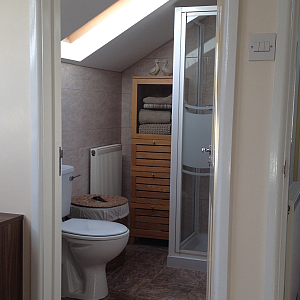 Loft toilet and shower cubicle designed by Ely Design Group.